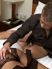 Super sexy ladyboy coupling with white man