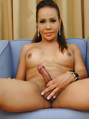 Ladyboy Talisha is back and jerking off!