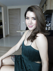 19 year old shy Thai ladyboy dresses up and fucks white tourist