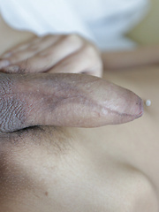 19 year old Thai ladyboy strips and blows white cock