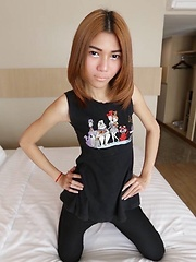 Skinny ladyboy shows off wild side in Bangkok hotel